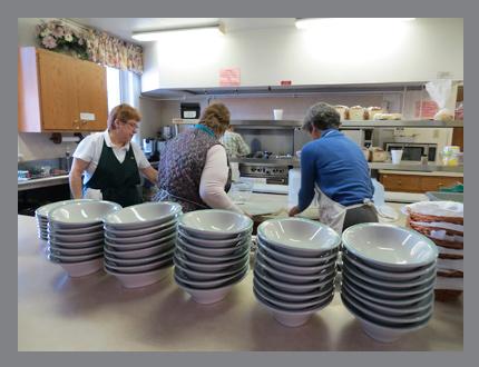 Congregational Dinner Kitchen Cooks 2
