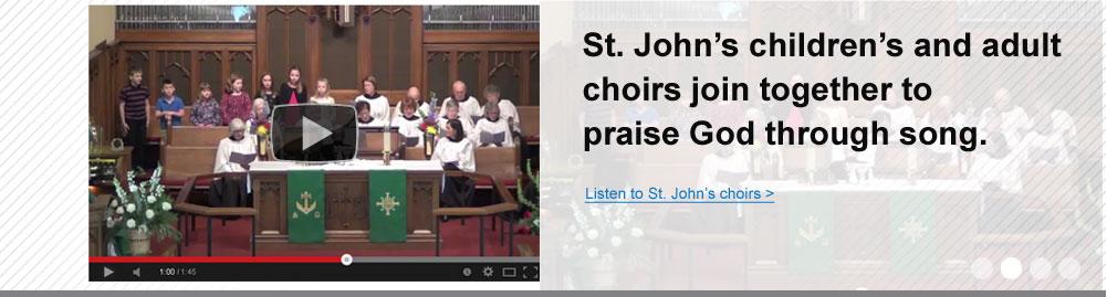 St Johns Choir video